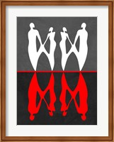 Red and White Dance 2 Fine Art Print