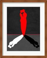 Red Kiss Shadow Fine Art Print