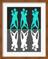 Green and White Couple dancing Fine Art Print
