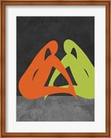 Orange and Green Women Fine Art Print