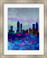 Atlanta Watercolor Skyline Fine Art Print
