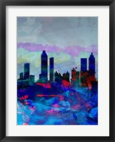 Atlanta Watercolor Skyline Fine Art Print
