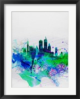 Boston Watercolor Skyline Fine Art Print