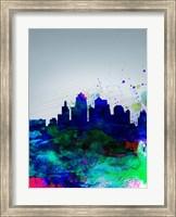 Kansas City Watercolor Skyline Fine Art Print