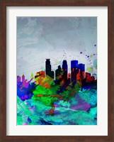Minneapolis Watercolor Skyline Fine Art Print