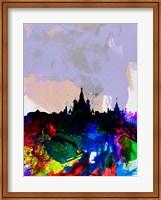 Moscow Watercolor Skyline Fine Art Print