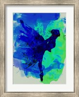 Ballerina on Stage Watercolor 2 Fine Art Print