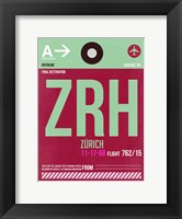 ZRH Zurich Luggage Tag 2 Fine Art Print