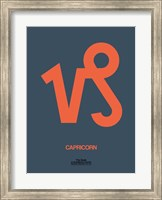 Capricorn Zodiac Sign Orange Fine Art Print