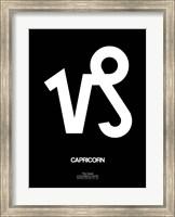 Capricorn Zodiac Sign White Fine Art Print