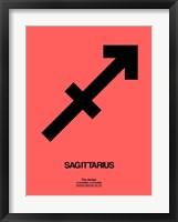 Sagittarius Zodiac Sign Black Fine Art Print