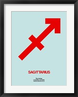 Sagittarius Zodiac Sign Red Fine Art Print