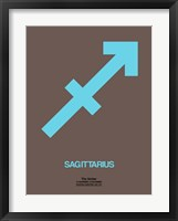 Sagittarius Zodiac Sign Blue Fine Art Print