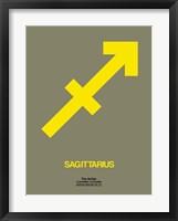 Sagittarius Zodiac Sign Yellow Fine Art Print