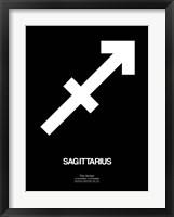 Sagittarius Zodiac Sign White Fine Art Print