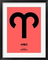 Aries Zodiac Sign Black Fine Art Print