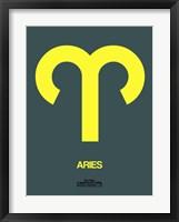 Aries Zodiac Sign Yellow Fine Art Print