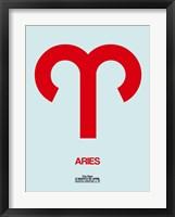 Aries Zodiac Sign Red Fine Art Print