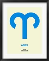 Aries Zodiac Sign Blue Fine Art Print