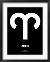 Aries Zodiac Sign White Fine Art Print