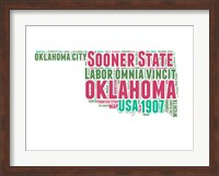 Oklahoma Word Cloud Map Fine Art Print