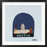 Austin Snow Globe Fine Art Print
