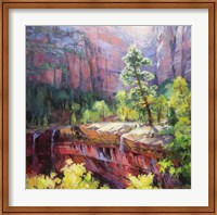 Last Light in Zion Fine Art Print