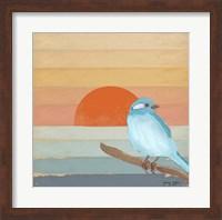Blue Bird By Water Fine Art Print