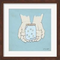 Jar Of Wishes Blue Fine Art Print