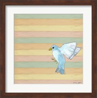 Flying Blue Bird Fine Art Print