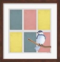 Rectangles And Blue Bird Fine Art Print