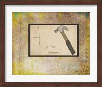 H is For Hammer Fine Art Print