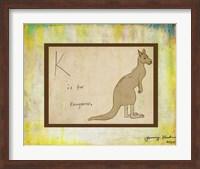 K is For Kangaroo Fine Art Print