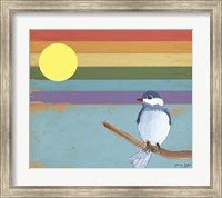 Rainbow And Bird Fine Art Print