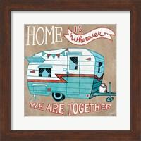 Adventure Love Camper Taupe Fine Art Print