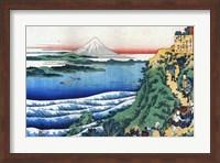 Snow on Mount Fuji, Porters Climb Uphill. Fine Art Print