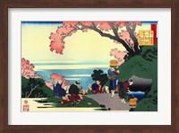 Three Men Admire the Cherry Blossoms Fine Art Print