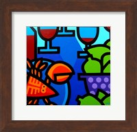 Lobster Wine And Limes Fine Art Print