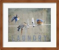 Laundry Day Bluebirds Fine Art Print
