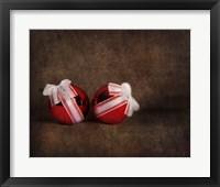 Two Red Ornaments Still Life Fine Art Print