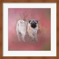 Pug In The Garden Fine Art Print