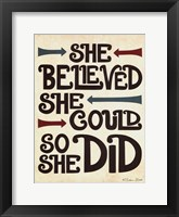 She Believed Fine Art Print