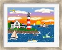 Triangle Point Lighthouse Fine Art Print