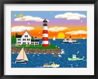 Triangle Point Lighthouse Fine Art Print