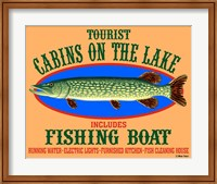 Tourist Cabins on the Lake Fine Art Print