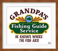 Grandpa's Fishing Guide Service Fine Art Print