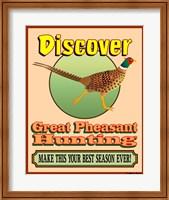 Discover Pheasant Hunting Fine Art Print