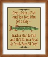 Give Teach Fish Beer Fine Art Print