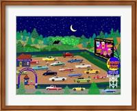 Moonrise Drive-In Fine Art Print