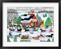 Jingle Bell Sleigh Society Fine Art Print
